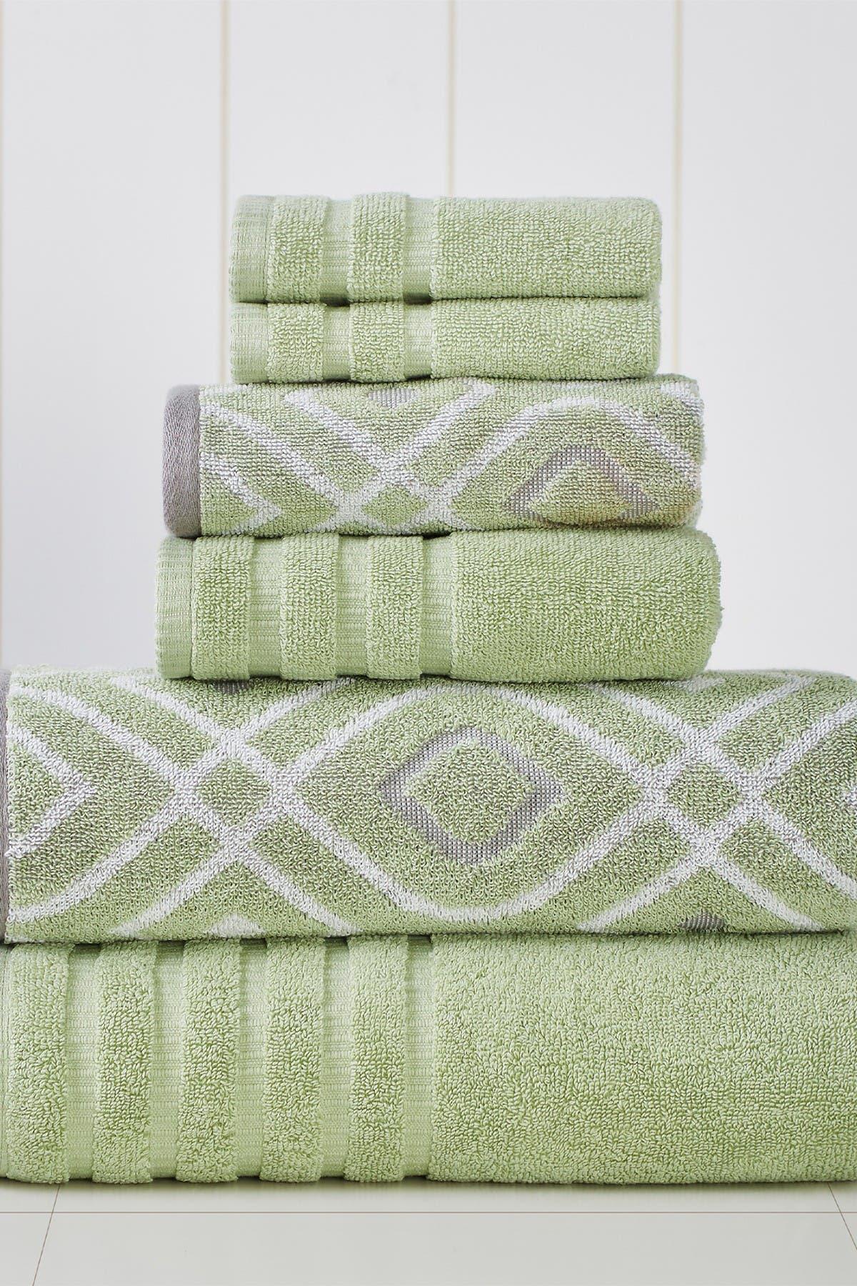 Image of Modern Threads Yard Dyed Towel 6-Piece Set - Oxford Sage Green