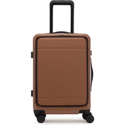 Calpak Hue 22-Inch Front Pocket Carry-On Suitcase - Brown