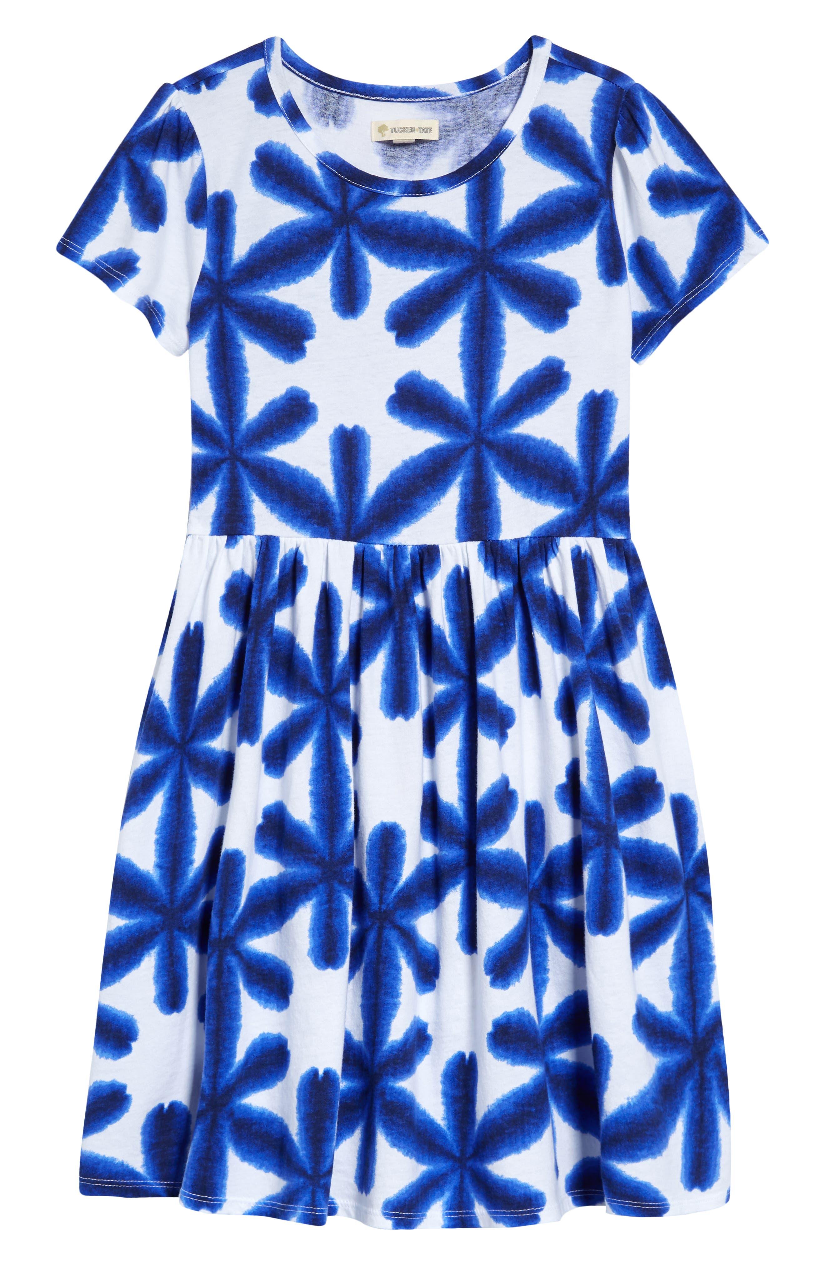 Tucker + Tate Cottons PRINTED SHORT SLEEVE DRESS