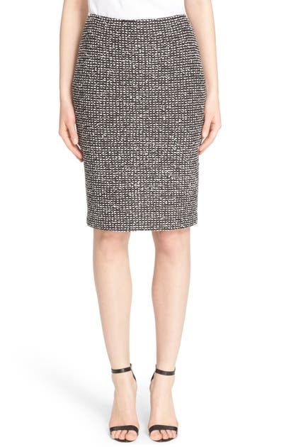 St. John 'moorisha' Knit Pencil Skirt In Mahogany Multi