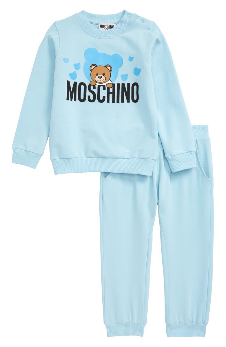 MOSCHINO Teddy Logo Graphic Sweatshirt & Sweatpants Set, Main, color, 400