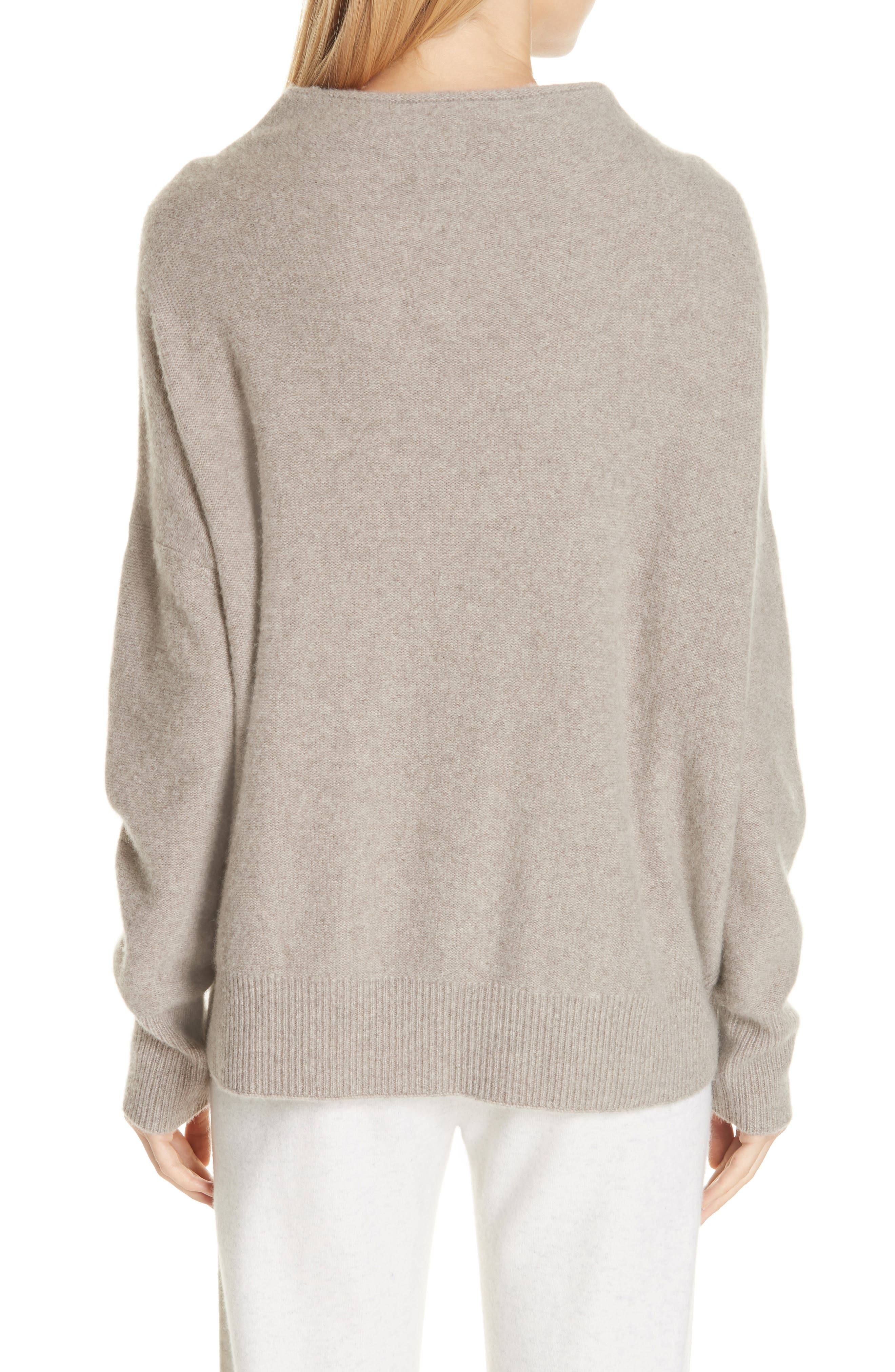 ,                             Funnel Neck Cashmere Sweater,                             Alternate thumbnail 2, color,                             201