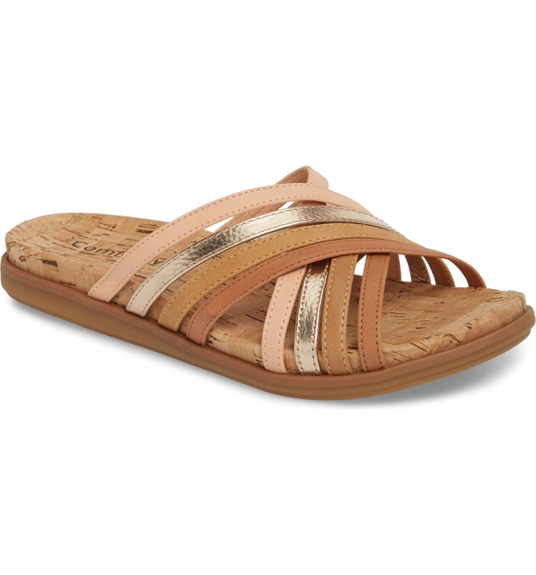 COMFORTIVA Cayce Sandal, Main, color, WALNUT LEATHER