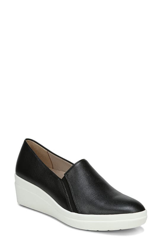 Naturalizer Snowy Slip-ons Women's Shoes In Black Leather