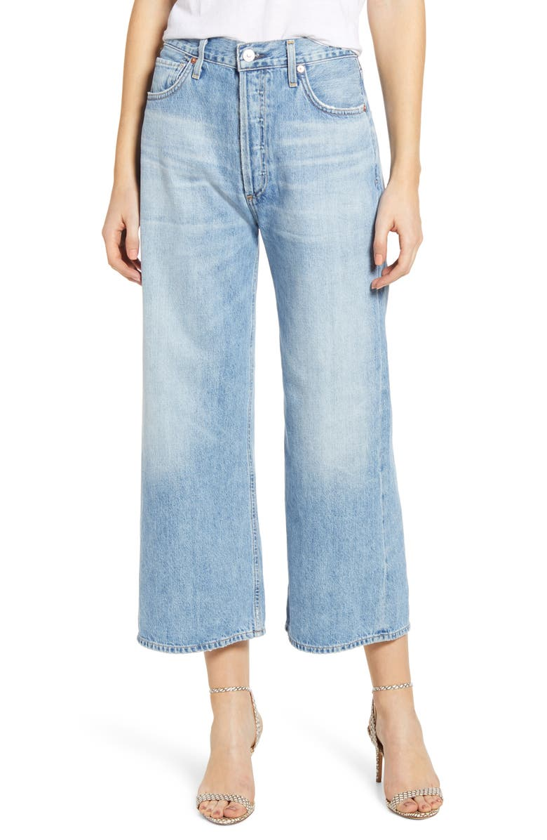 CITIZENS OF HUMANITY Sacha High Waist Crop Wide Leg Jeans, Main, color, 423