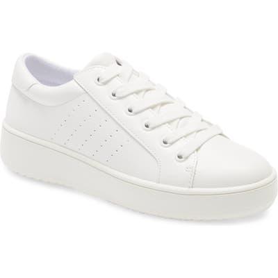 Steve Madden Blade Platform Sneaker- White