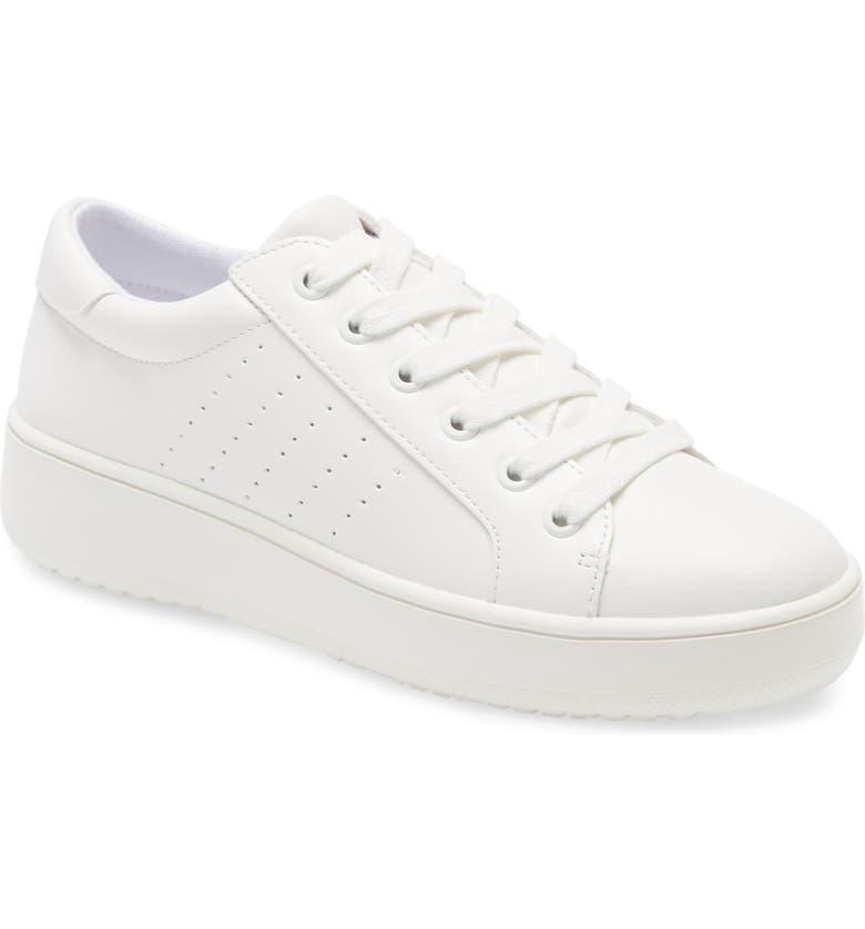 STEVE MADDEN Blade Platform Sneaker, Main, color, WHITE