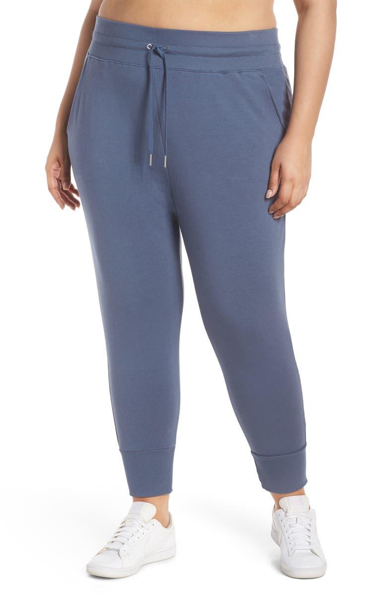 ZELLA Cropped Jogger Pants, Main, color, BLUE VINTAGE