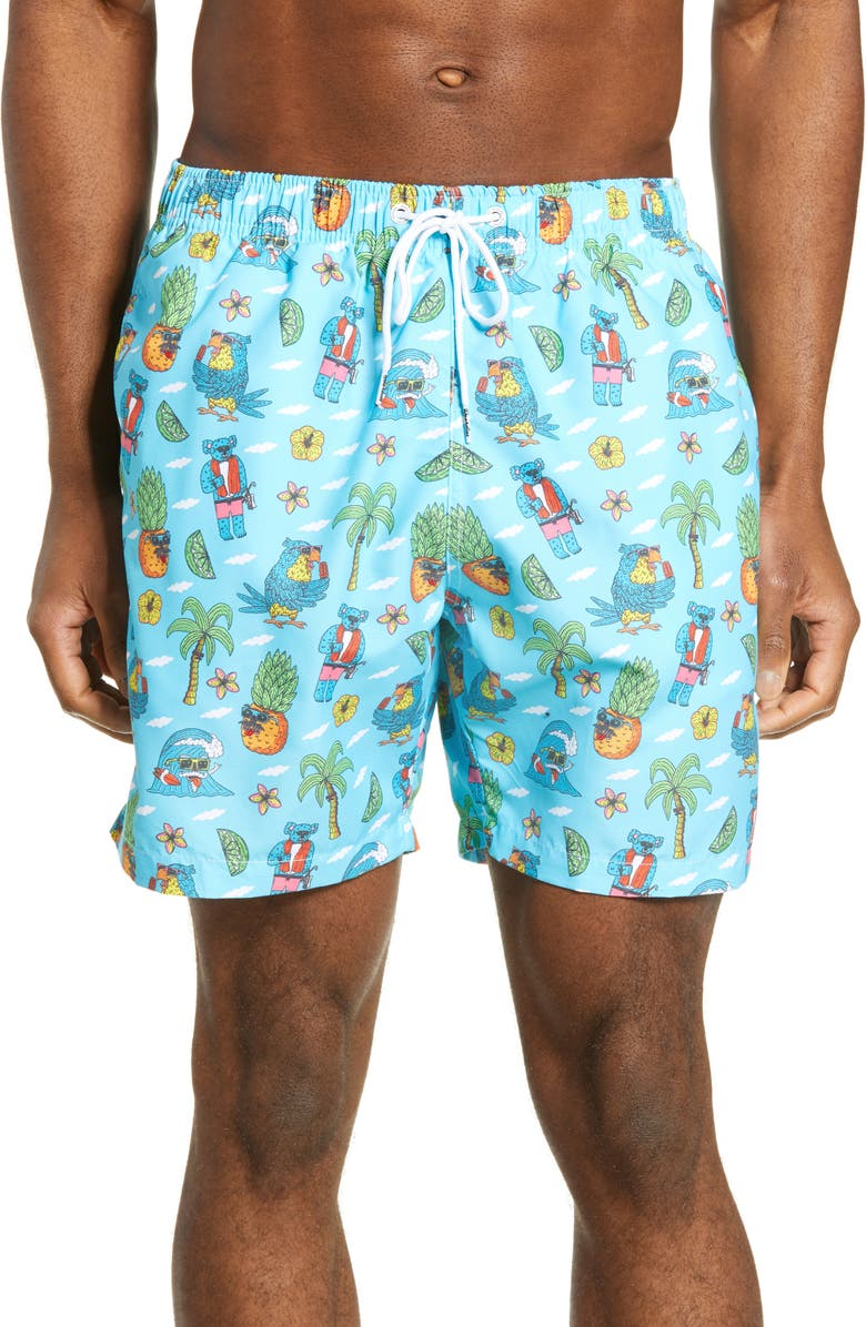 BOARDIES Mulga Koala Print Swim Trunks, Main, color, 400