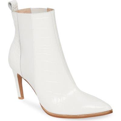 42 Gold Kensington Chelsea Boot, White