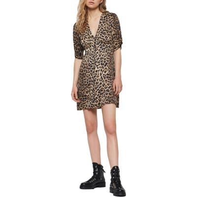 Allsaints Kota Leppo Print Dress, Brown