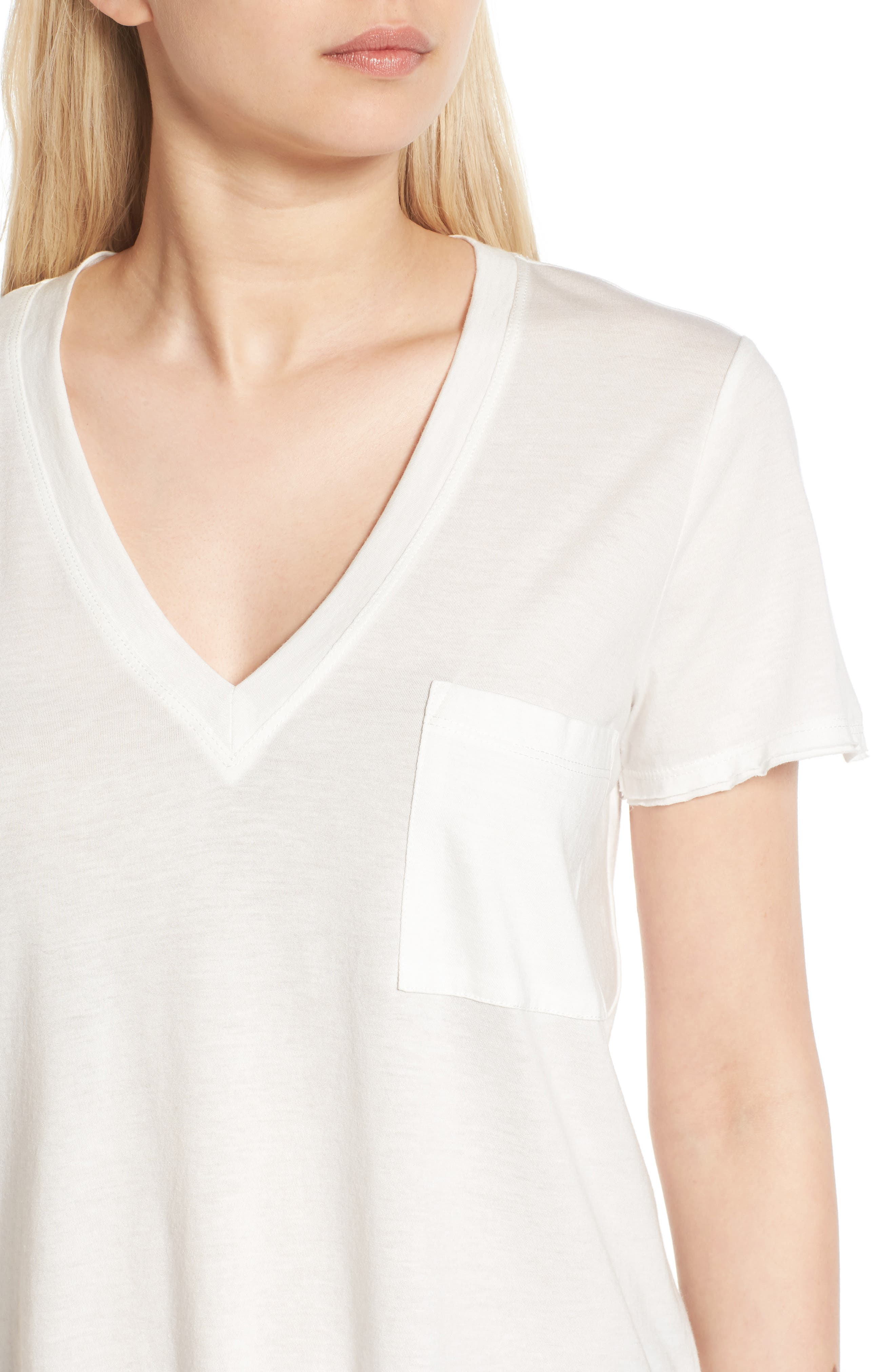 ,                             Raw Edge Side Slit Tee,                             Alternate thumbnail 34, color,                             100