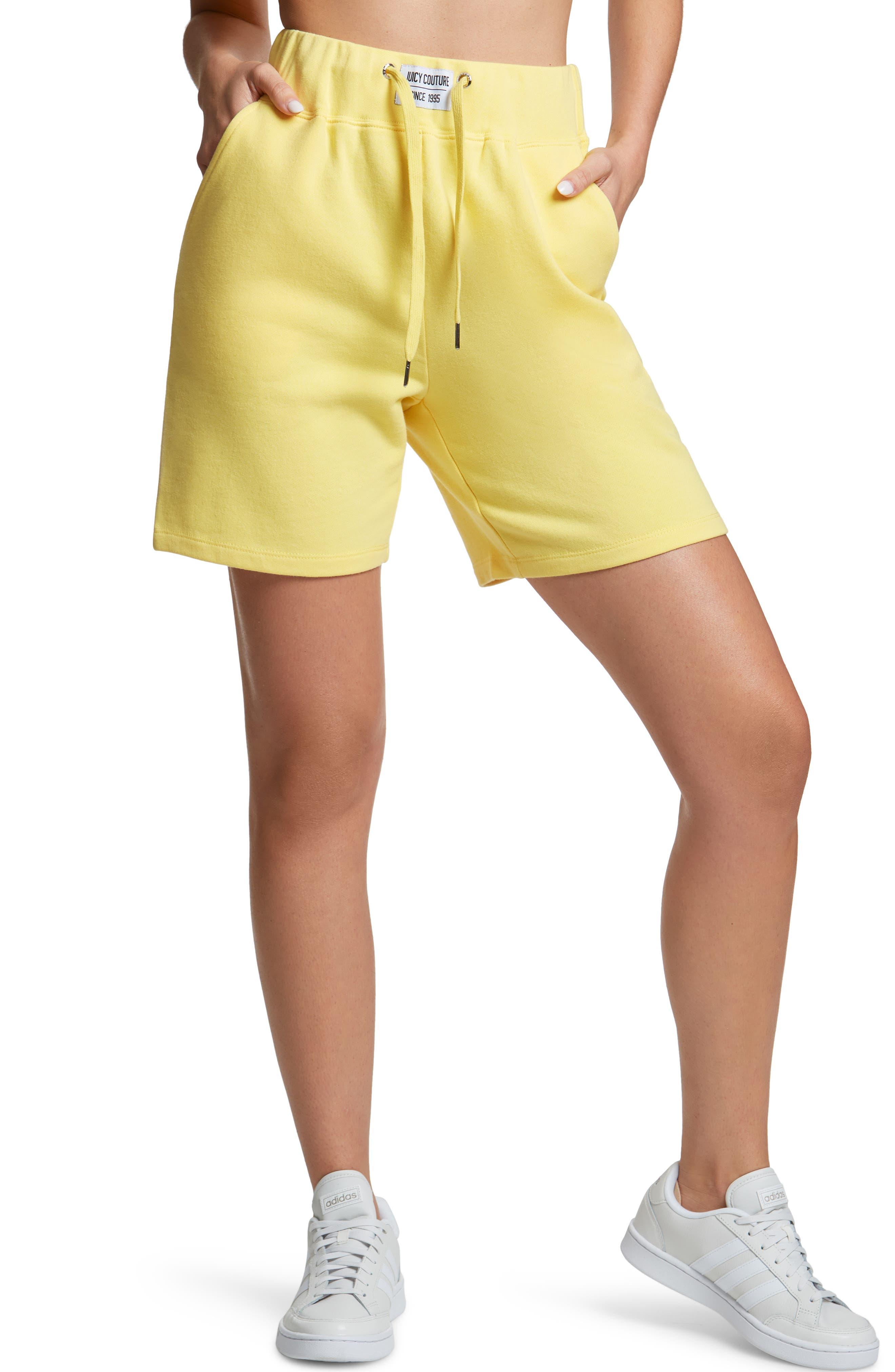 Women's High Waist French Terry Sweat Shorts