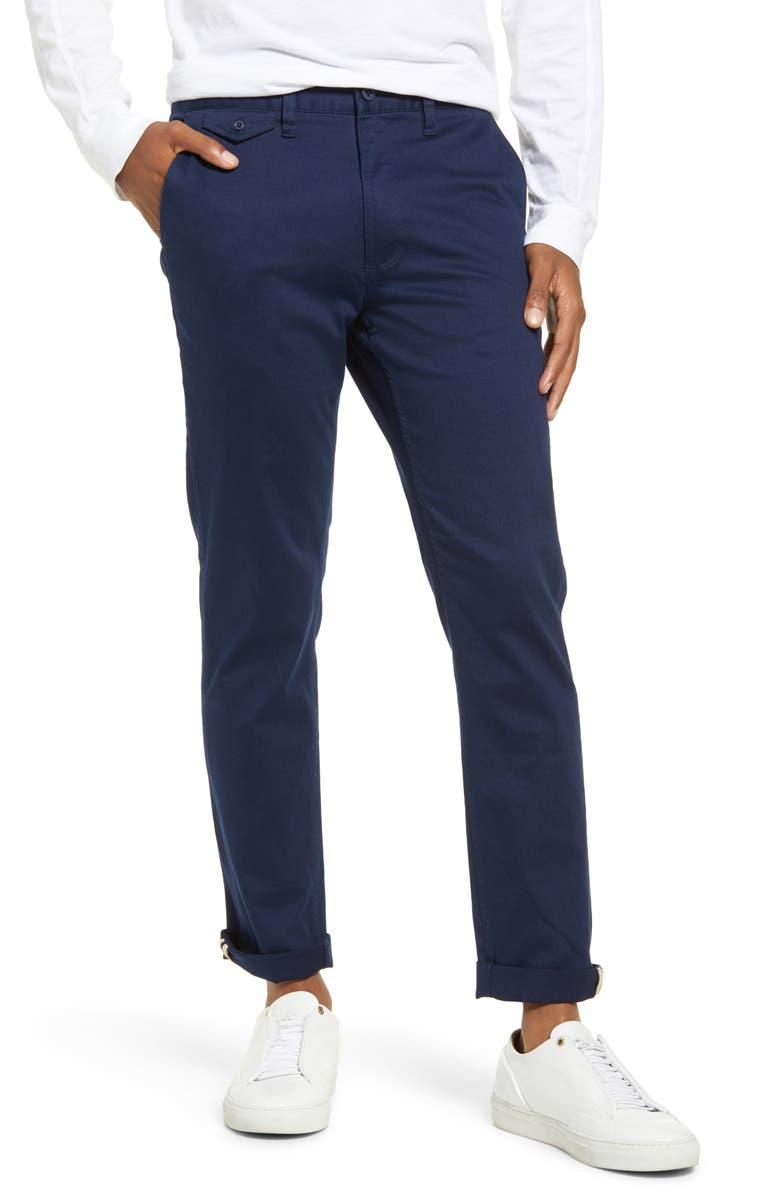 BANKS JOURNAL Primary Slim Fit Pants, Main, color, ISBINSIGNIA BLUE