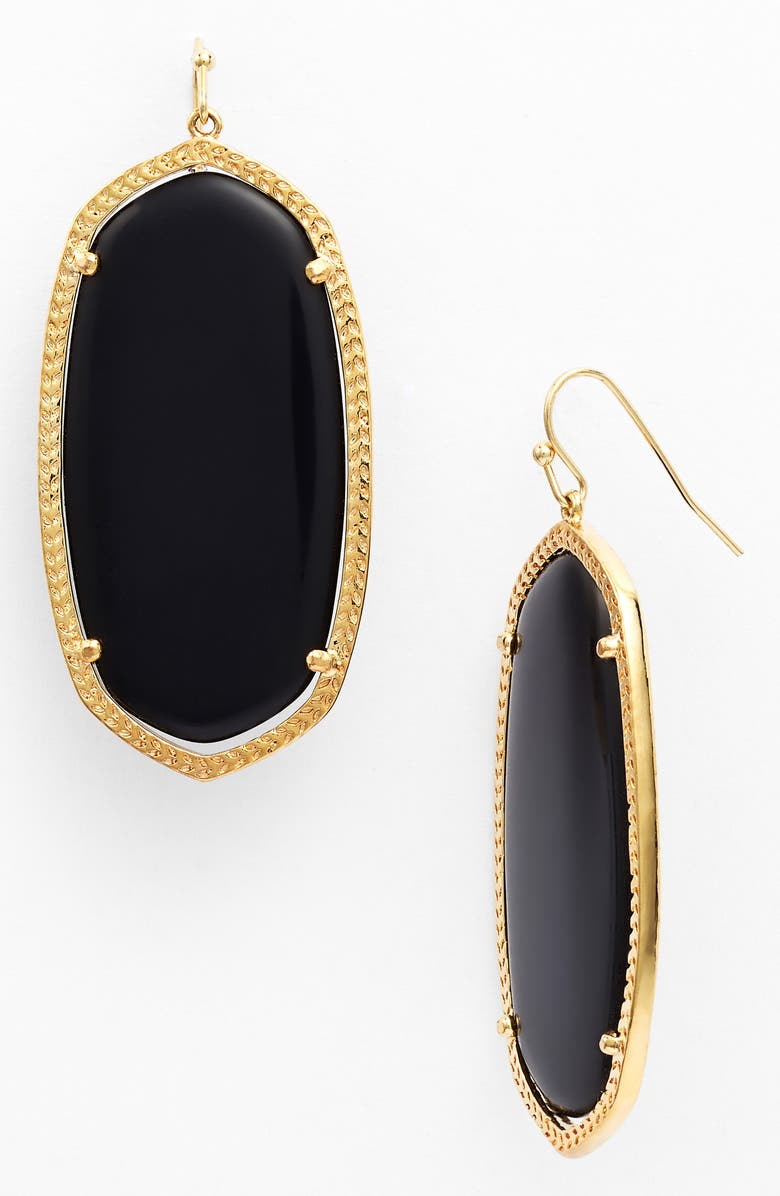 KENDRA SCOTT Danielle - Large Oval Statement Earrings, Main, color, 001