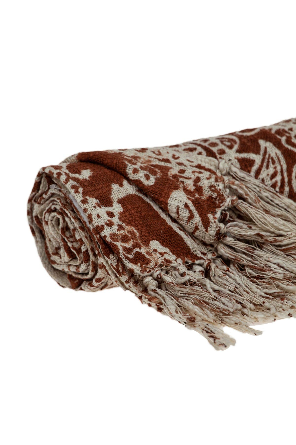 Parkland Collection Hina Floral Rust 52 X 67 Woven Handloom Throw Blanket Hautelook