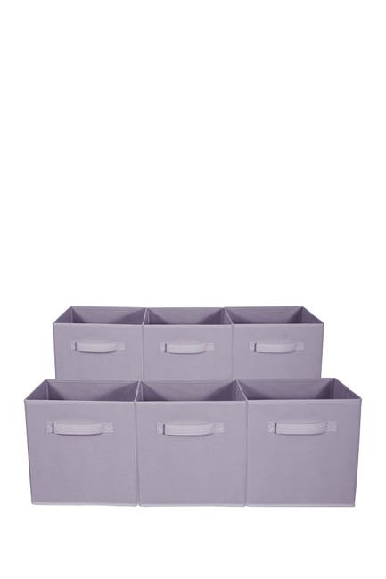 Image of Sorbus Foldable Storage Cube Basket Bin - Set of 6 - Pastel Purple