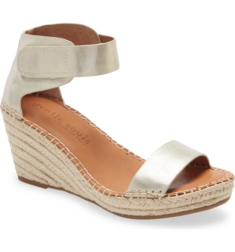 GENTLE SOULS BY KENNETH COLE Charli Wedge Sandal, Main, color, ICE METALLIC LEATHER