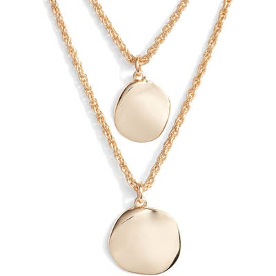Halogen Hacked Classic Layered Coin Necklace