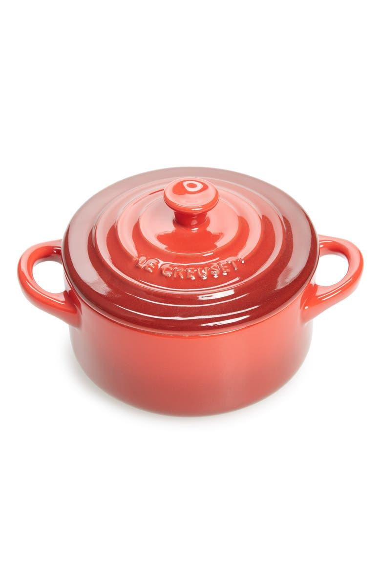 LE CREUSET Mini Round Cocotte, Main, color, CERISE