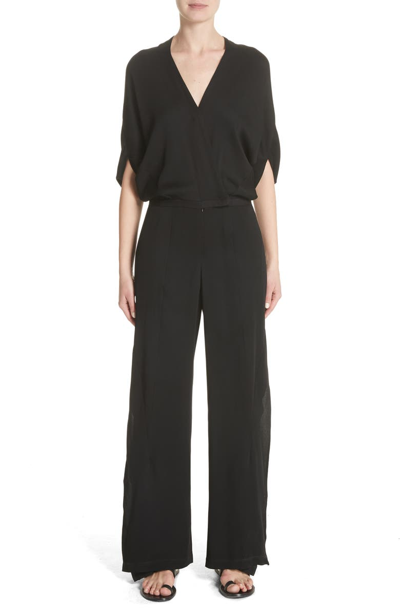 ZERO + MARIA CORNEJO Wide Leg Jumpsuit, Main, color, 001