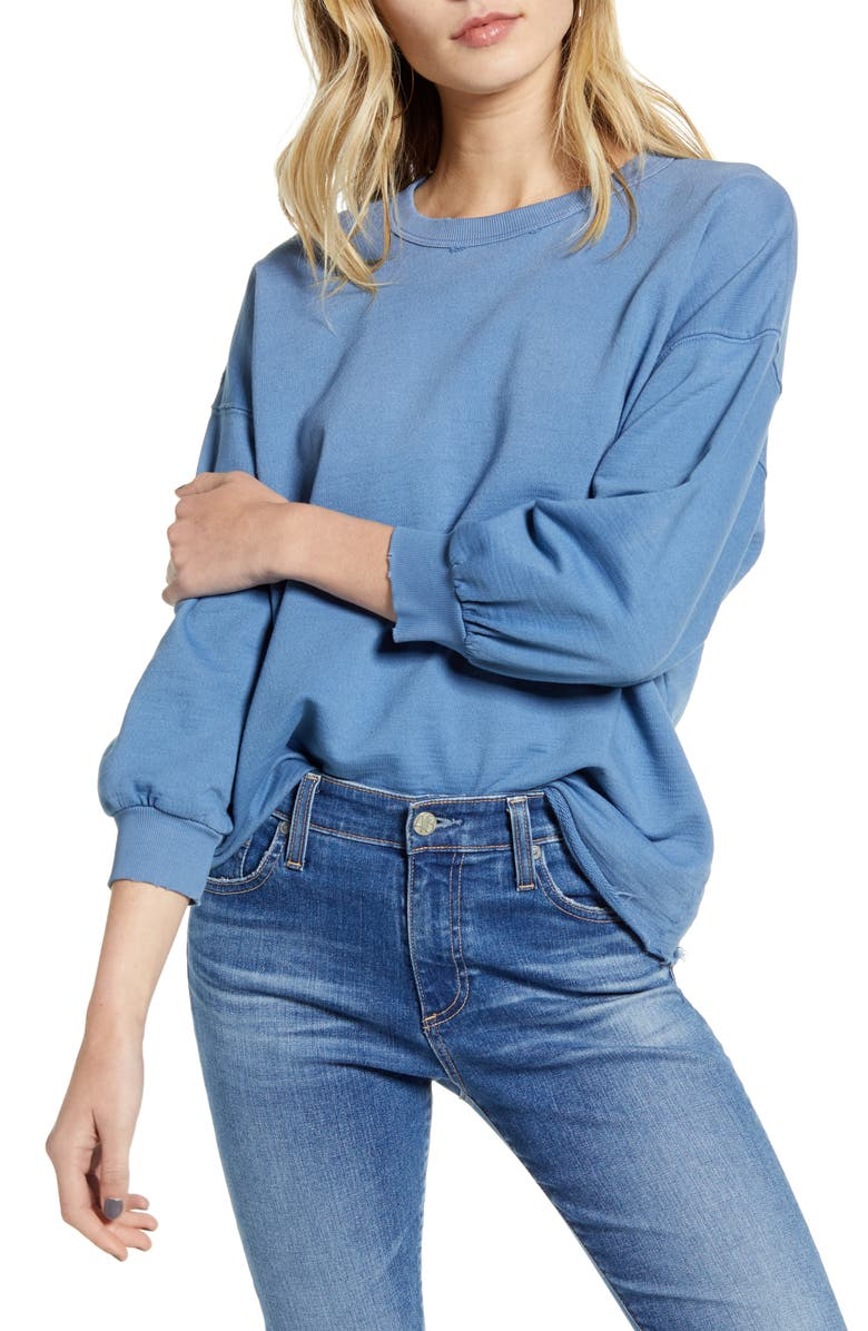 AG Orson Distressed Sweatshirt, Main, color, 478