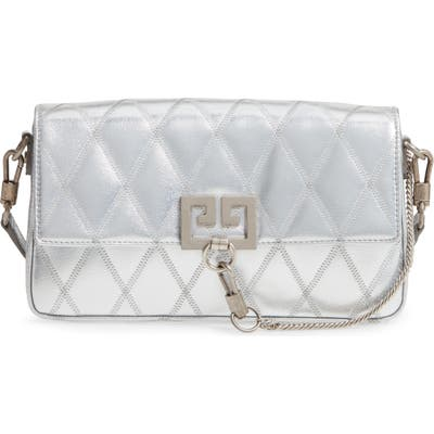 Givenchy Small Charm Metallic Quilted Shoulder Bag - Metallic