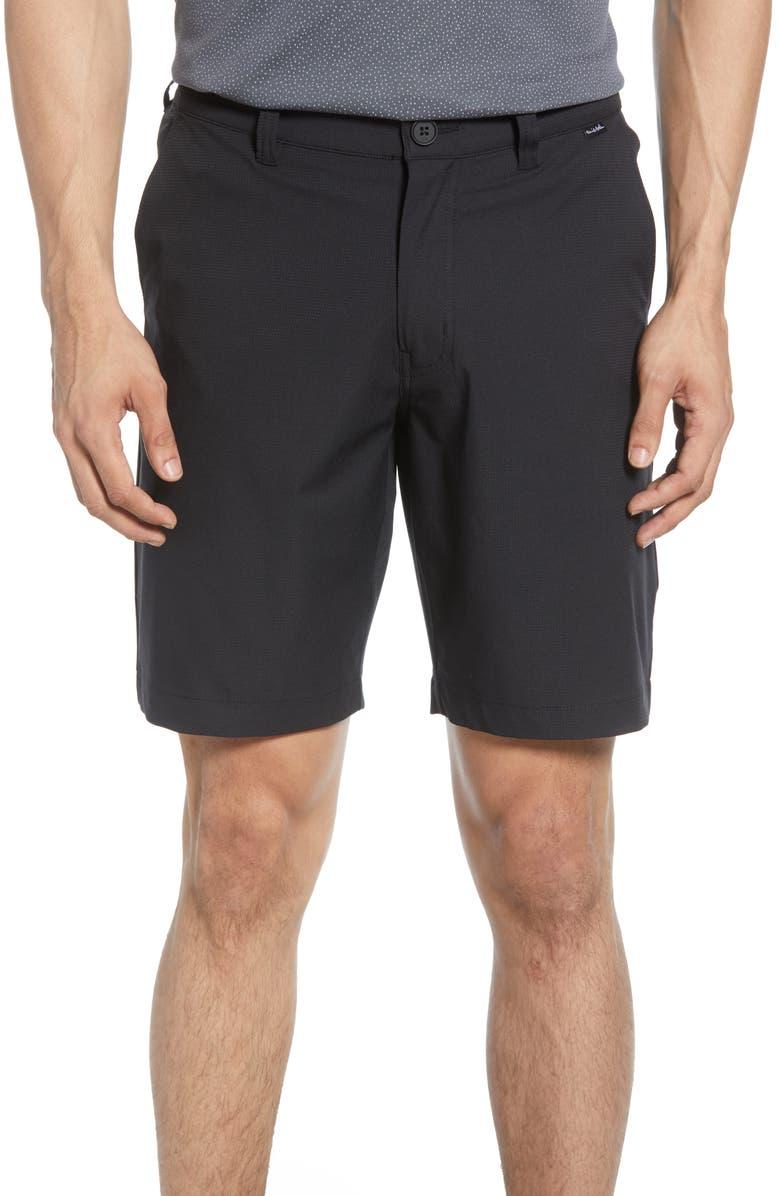 TRAVISMATHEW Starnes Stretch Performance Shorts, Main, color, BLACK