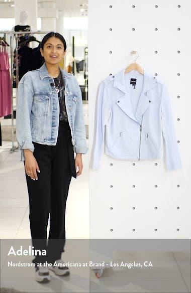 Linen Blend Biker Jacket, sales video thumbnail