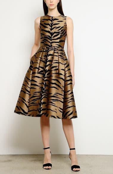 Tiger Jacquard Fit & Flare Dress, video thumbnail