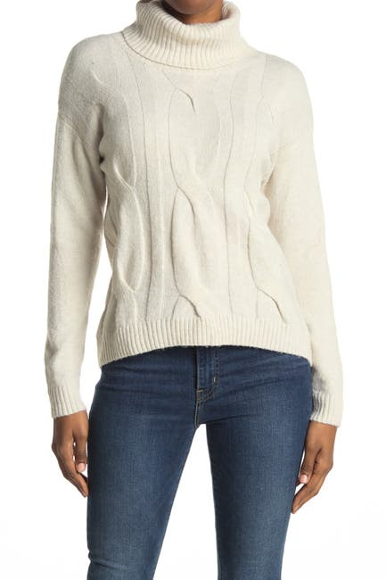 Image of STITCHDROP Turtleneck Cable Knit Sweater
