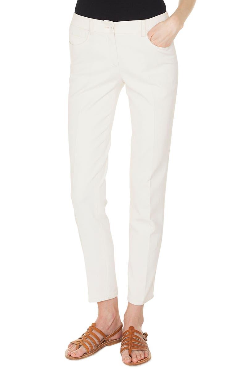 AKRIS Magda City Jeans, Main, color, PAPER