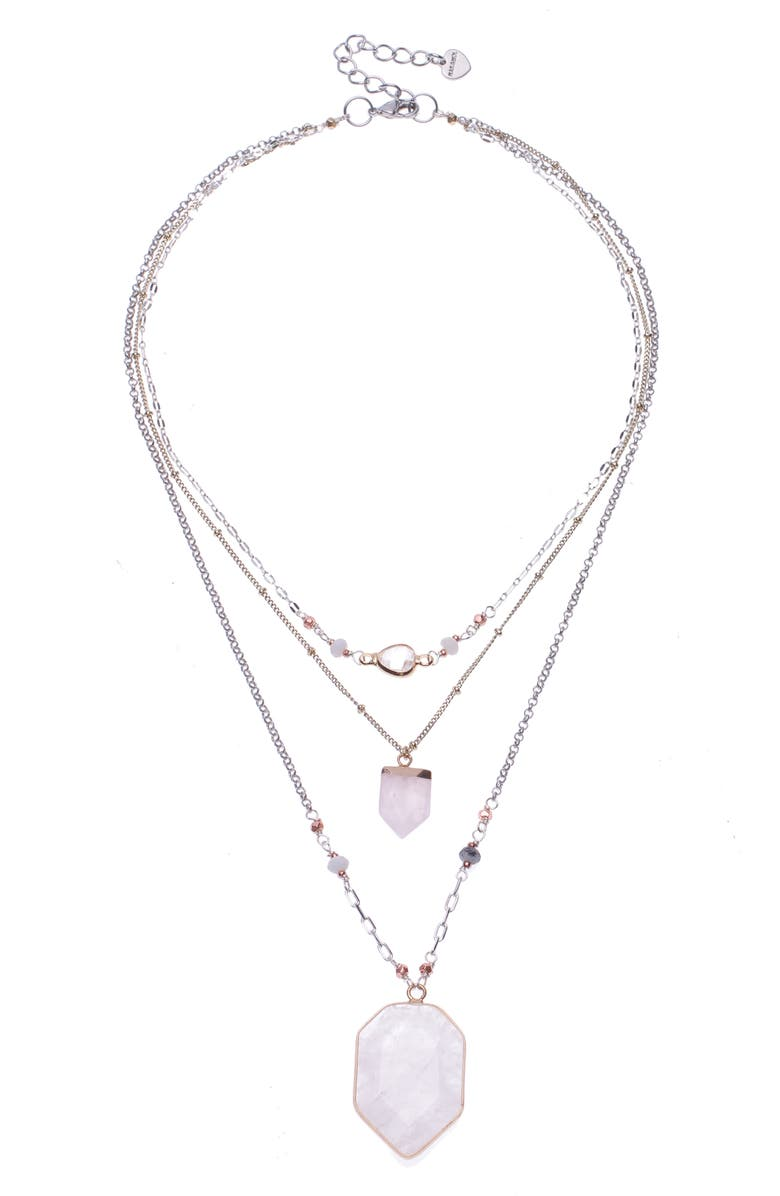 Nakamol Design Quartz Pendant Layered Necklace