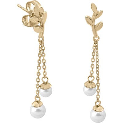 Majorica Simulated Pearl Vine Drop Earrings