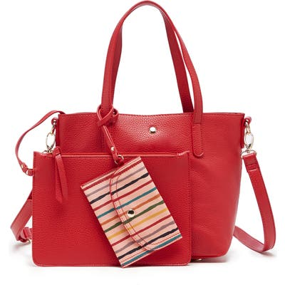 Sole Society Mini Zeda Faux Leather Tote - Red