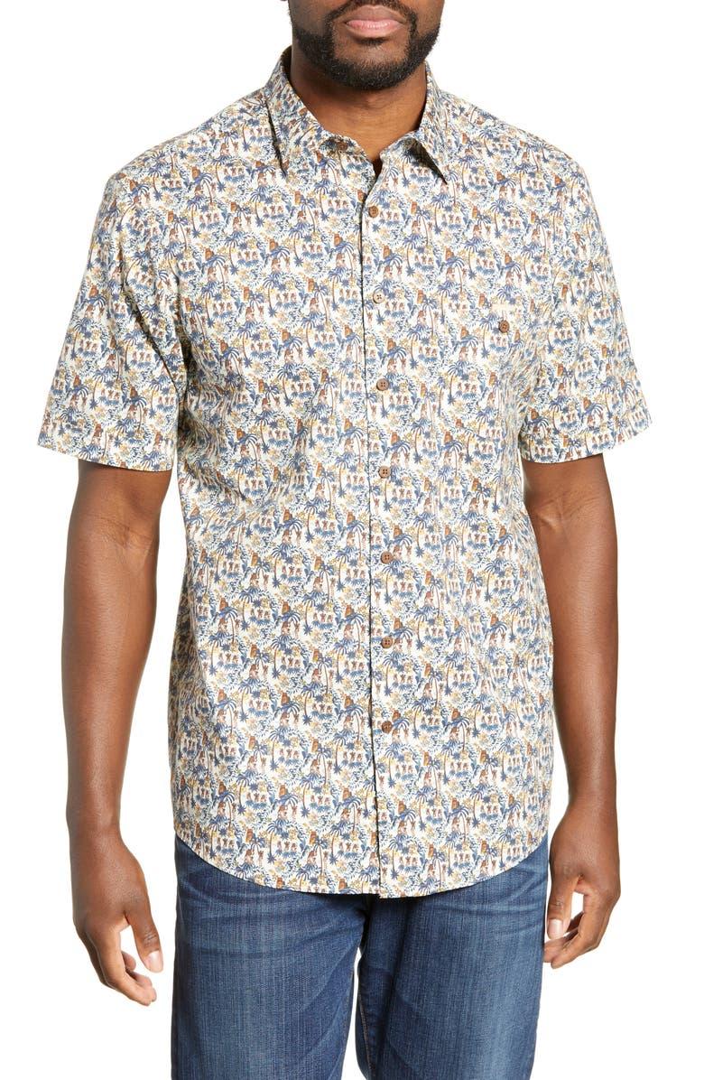 RODD & GUNN Thorton Regular Fit Print Shirt, Main, color, RIVIERA