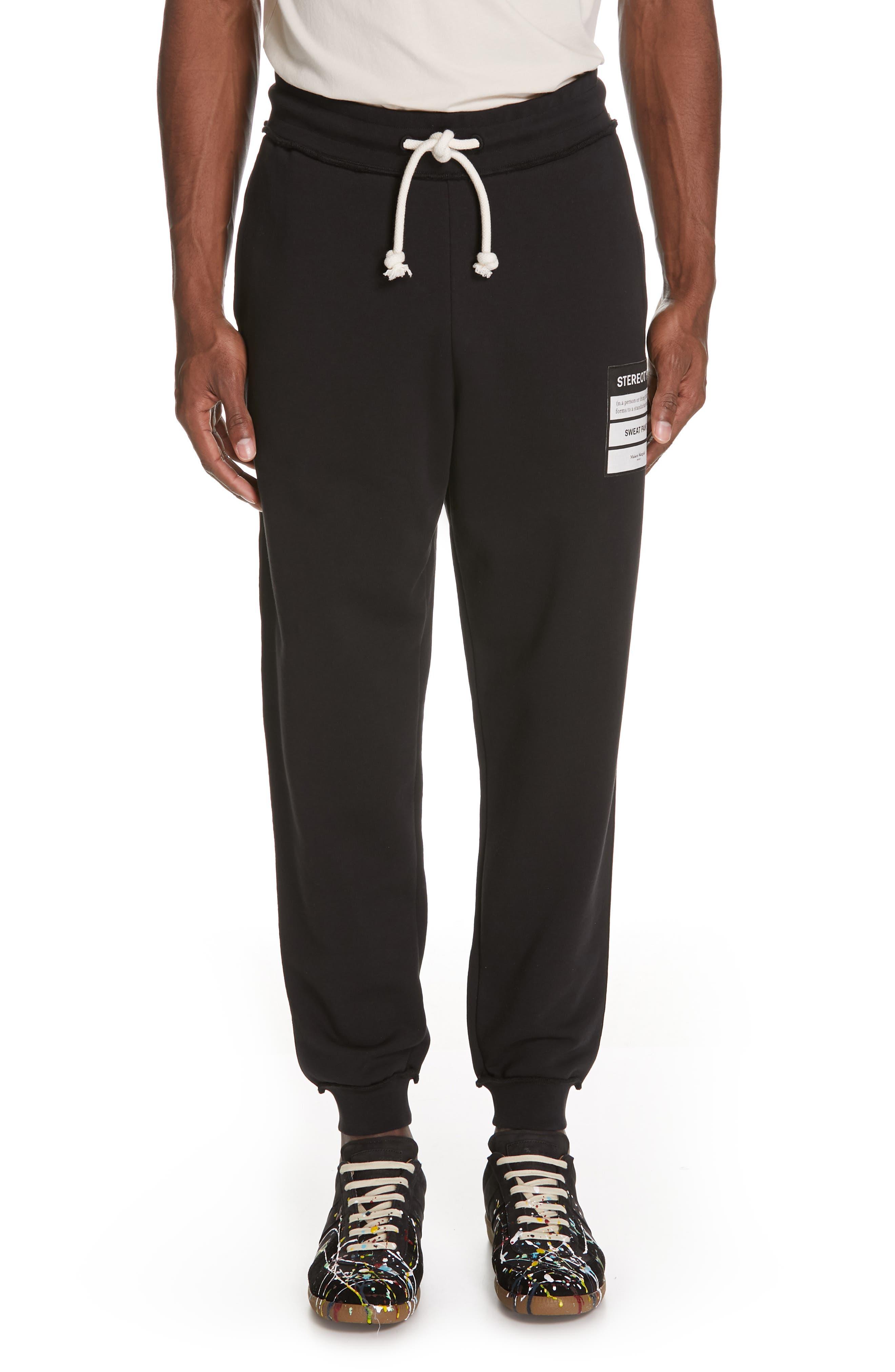 Maison Margiela Stereotype Sweatpants, Black