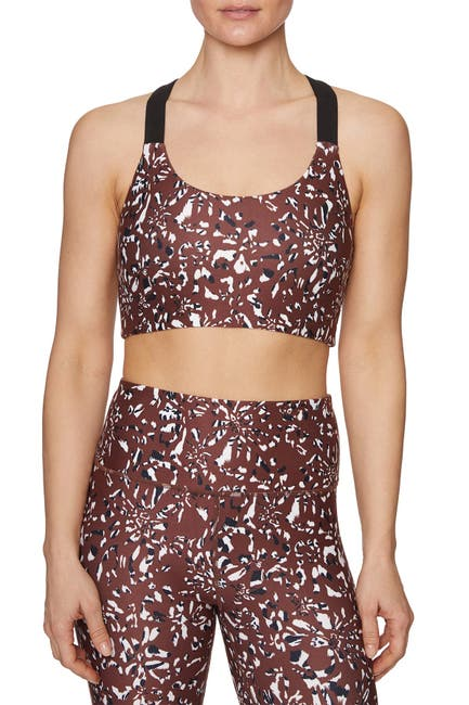 Image of Betsey Johnson Zebra Camo Racerback Sports Bra