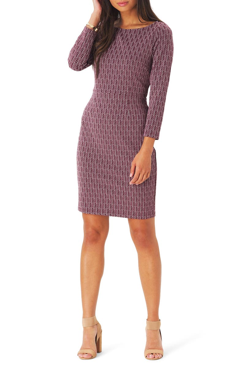 LEOTA Shelly Jacquard Sheath Dress, Main, color, 500