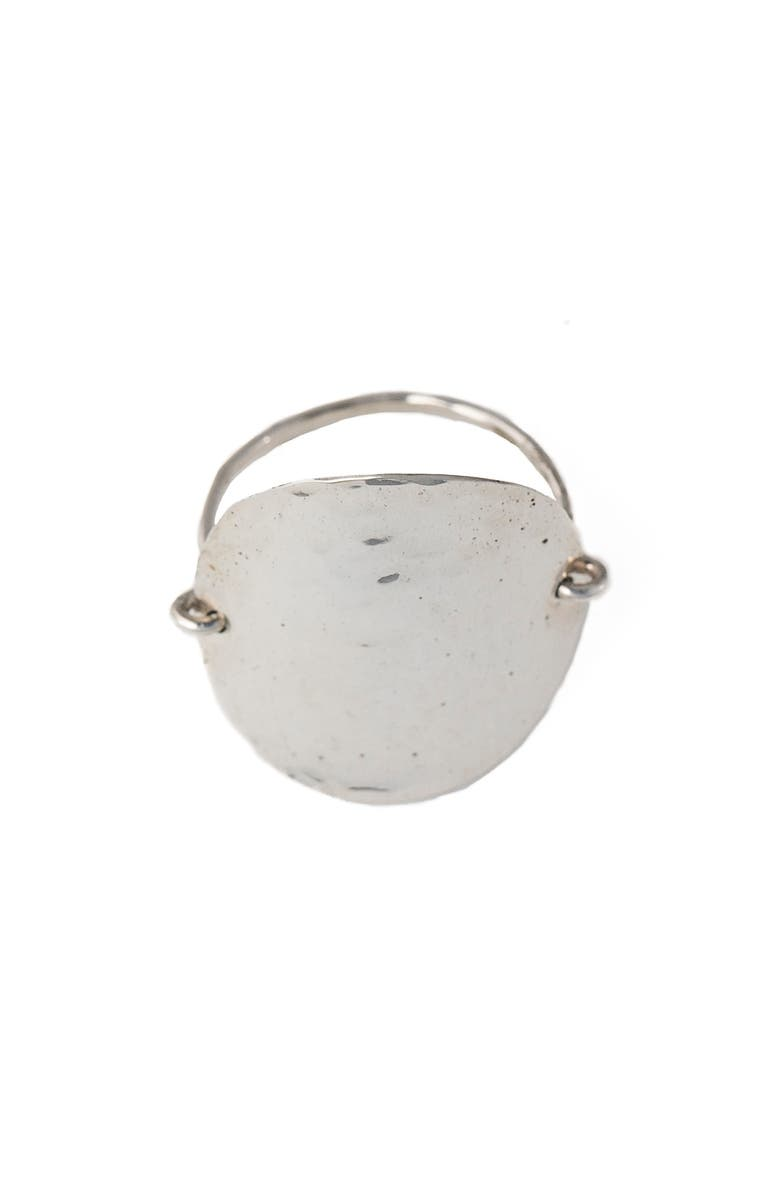 TERESSA LANE JEWELRY Hammered Disc Ring, Main, color, SILVER