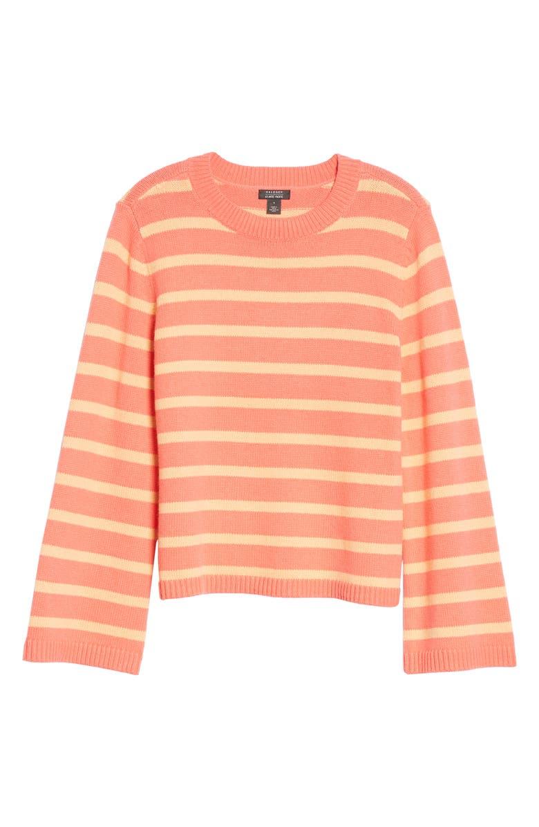 HALOGEN<SUP>®</SUP> x Atlantic-Pacific Oversize Stripe Sweater, Main, color, CORAL STRIPE