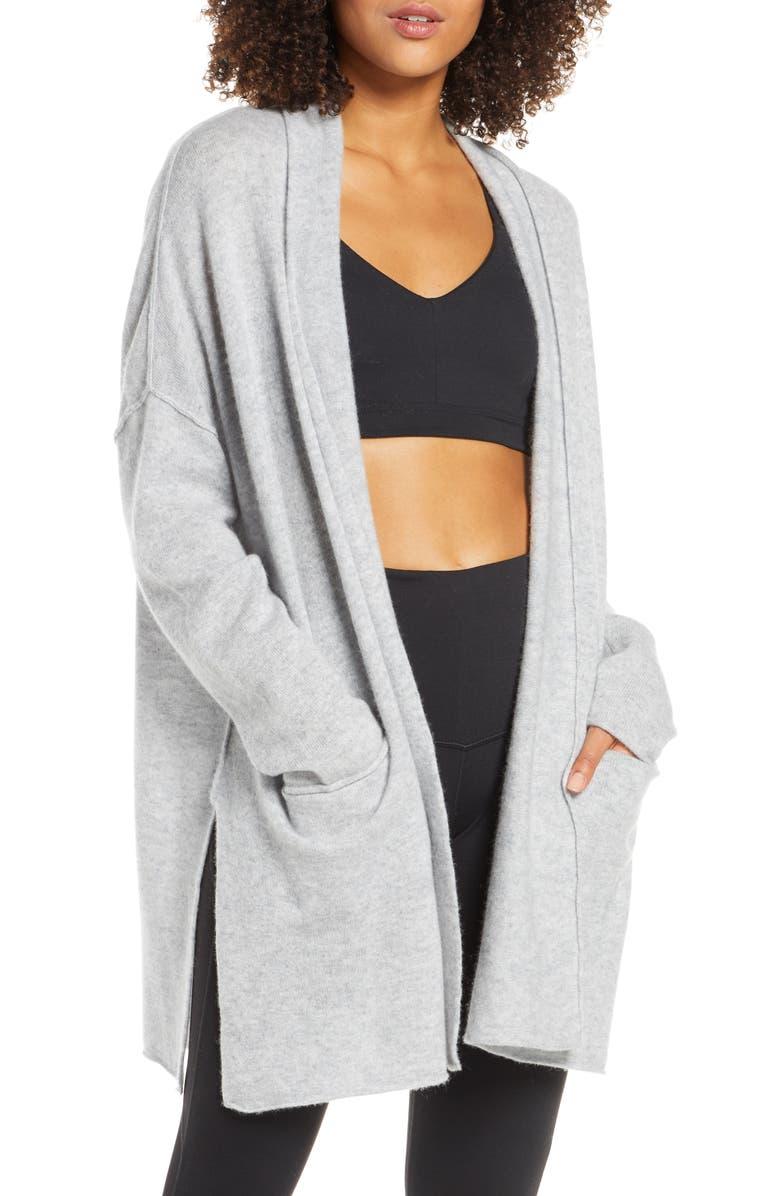 ZELLA Elevate Wool & Cashmere Wrap, Main, color, GREY MEDIUM CHARCOAL HEATHER