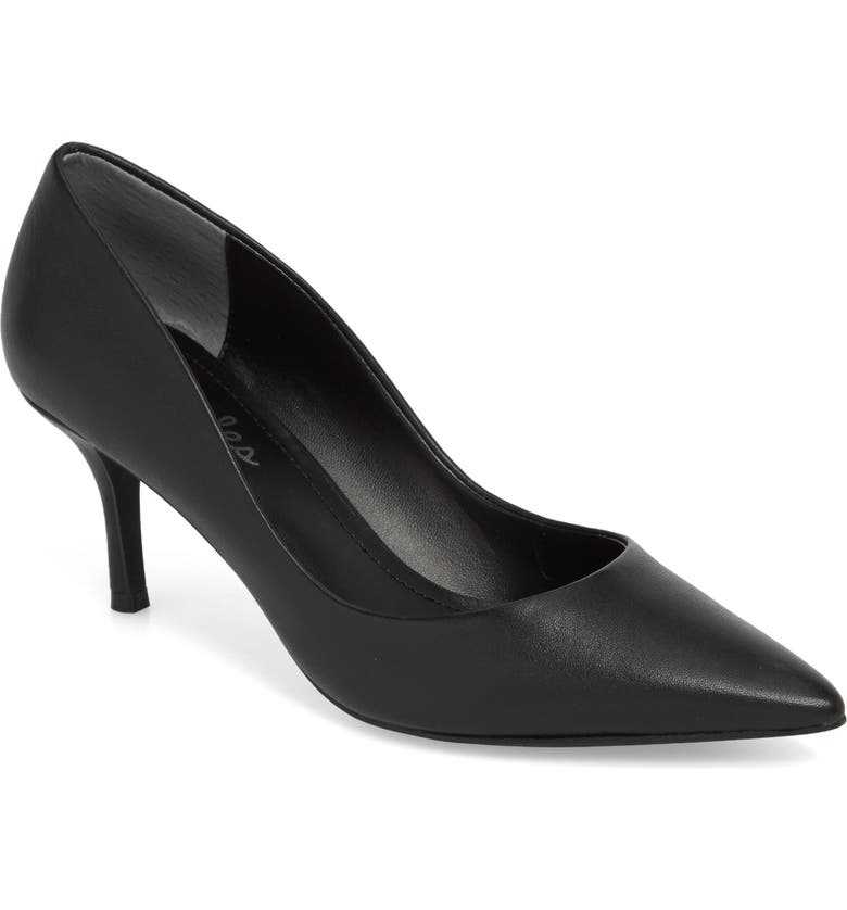 CHARLES BY CHARLES DAVID Addie Pump, Main, color, BLACK LEATHER