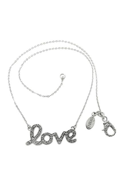 Image of Samuel B Jewelry Sterling Silver Love Necklace