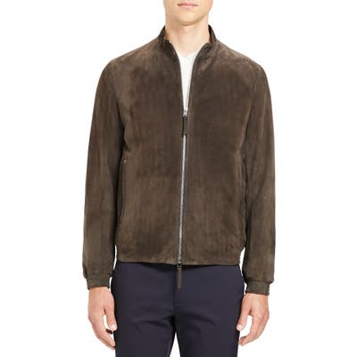 Theory Tremont Suede Jacket, Brown