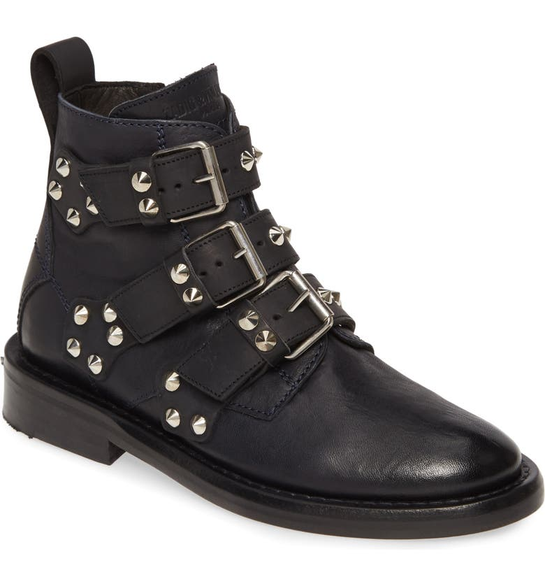 ZADIG & VOLTAIRE Laureen Spike Boot, Main, color, 465