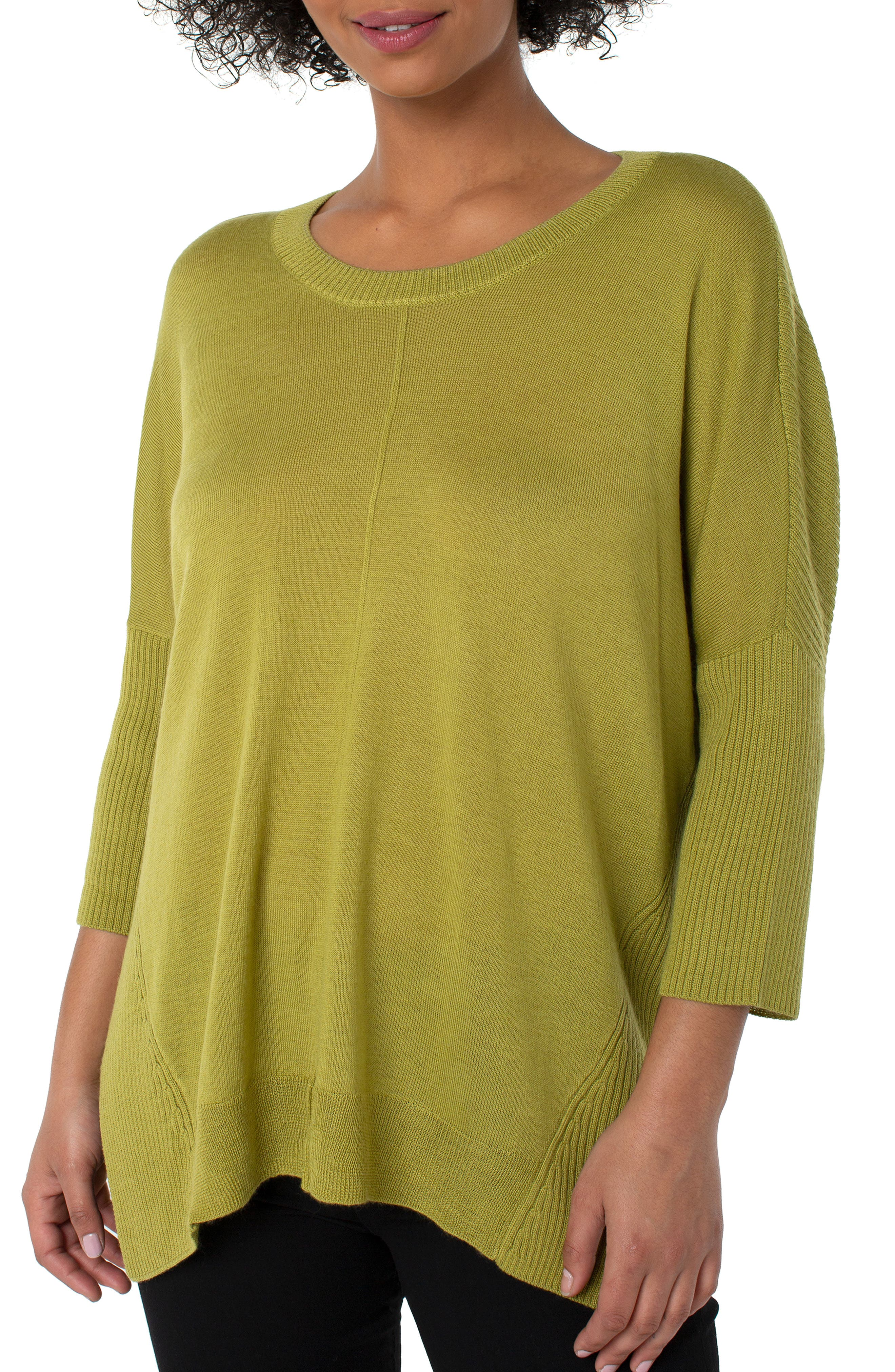 Fully Fashioned Crewneck Wool Blend Sweater
