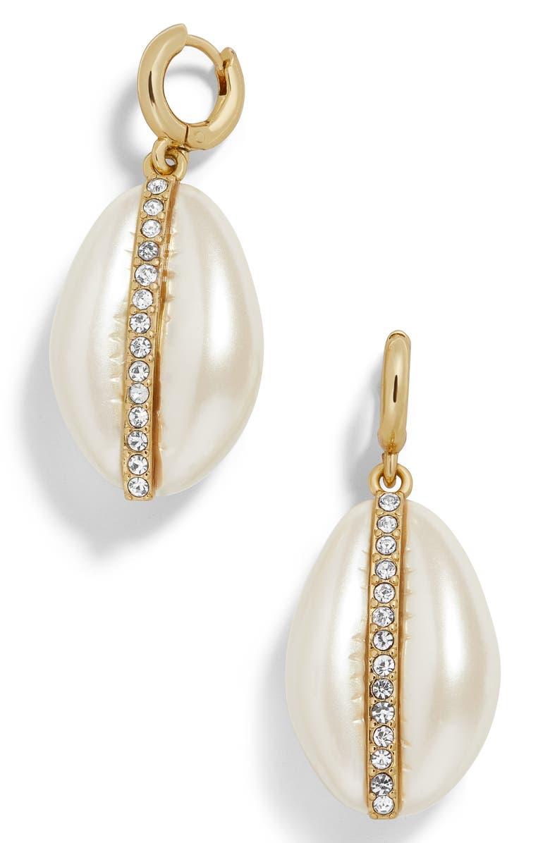 BAUBLEBAR Fiji Drop Earrings, Main, color, WHITE