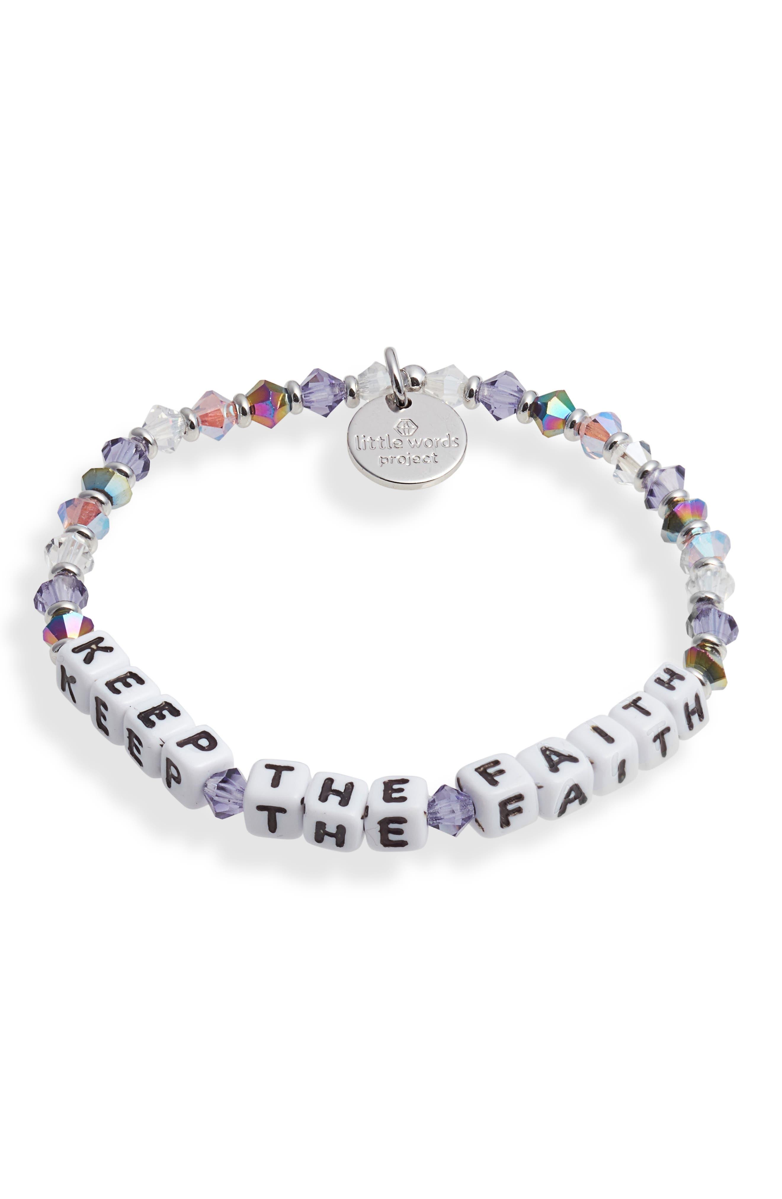 Keep The Faith Beaded Stretch Bracelet