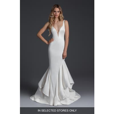 Blush By Hayley Paige Charisma Mermaid Wedding Dress, Size IN STORE ONLY - Ivory